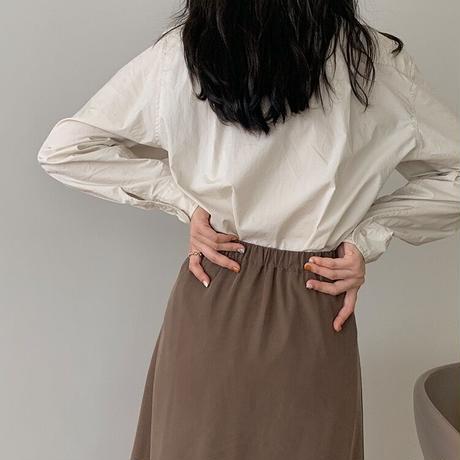 brown flare skirt