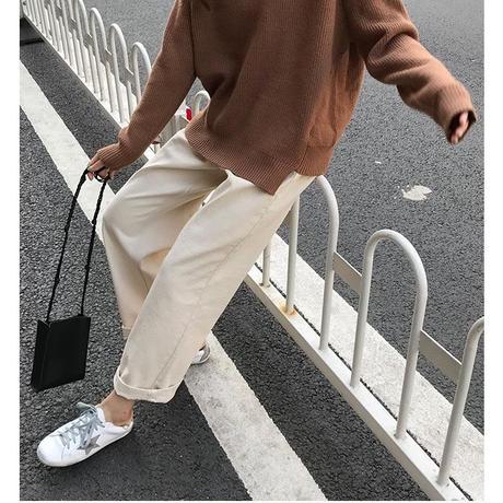 knit hoodie/3color