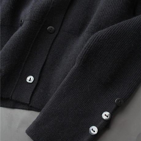 puff shoulder knit cardigan
