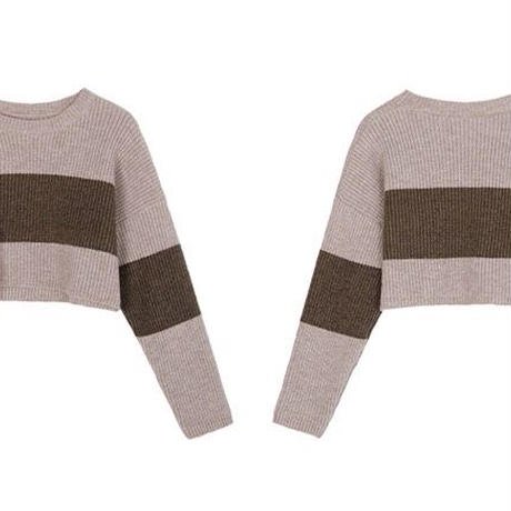 short knit pullover/2color