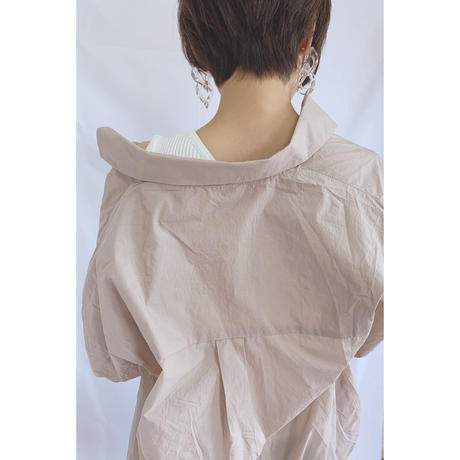 loose sheer shirt/2color