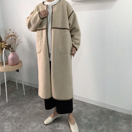 RV fake sheepskin long coat