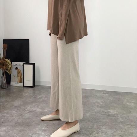 【MADE in KOREA】wool knit pants  3col