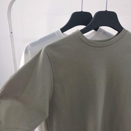 【MADE in KOREA】Egg Line Sleeve Tops   2col