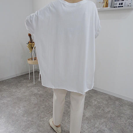 【MADE in KOREA】cut off long t-shirt