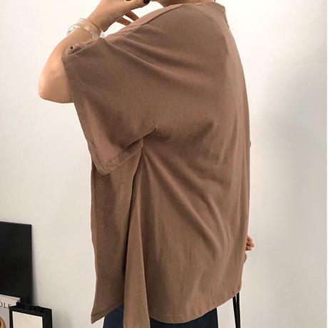 【MADE in KOREA】sleeve cut deign tops  3col