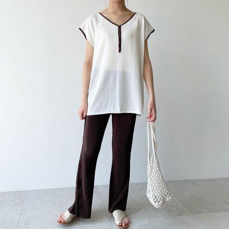 【即納】2way line touch knit PO