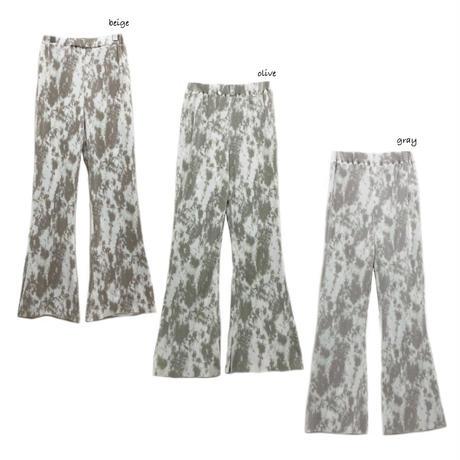 tie-dye cut soft flare pants【予約】