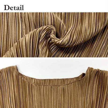 shiny pleated tunic【予約】