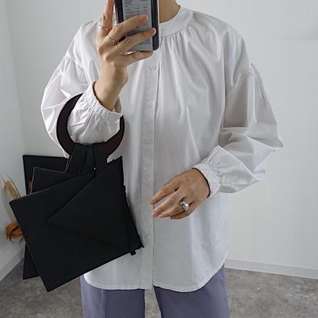 bangle sleeve white shirt
