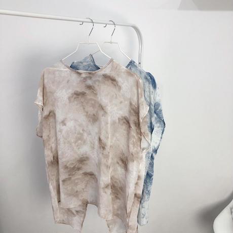 Tie dye 2way slit tops   2col