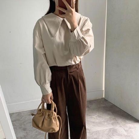 【MADE in KOREA】2way design collar blouse  2col