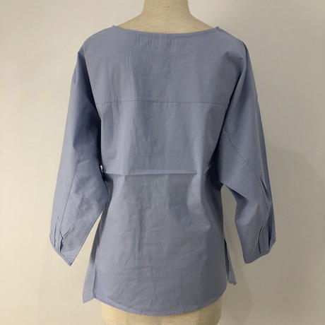 cotton tie blouse    2col