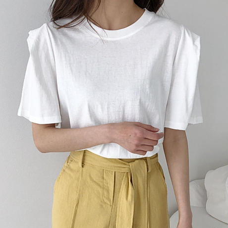 【MADE in KOREA】Square Sleeve Tee    3col