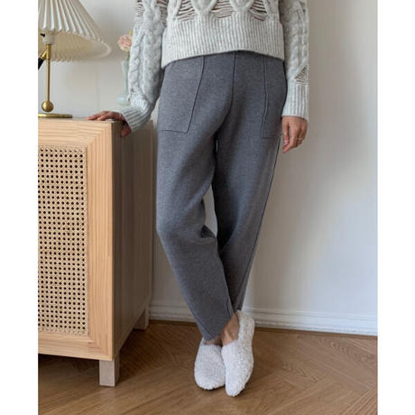 【MADE in KOREA】3D Heavy knit pants   2col