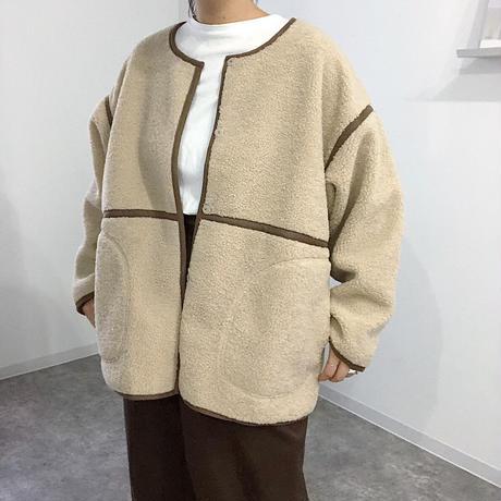 RV fake sheep skin  middle coat    2col