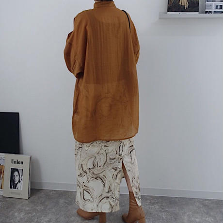 sheer dress shirt  2col