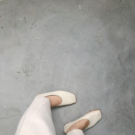 【MADE in KOREA】square toe flat shoes     2col