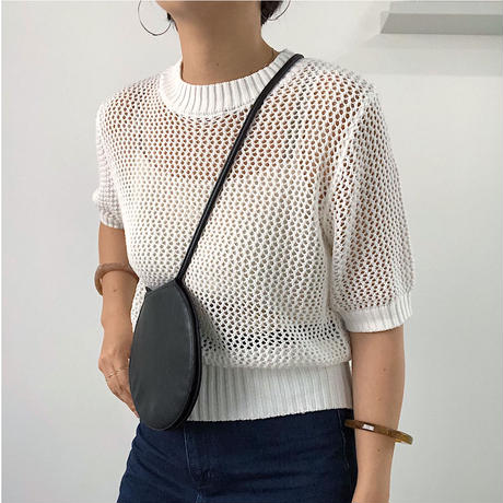 【MADE in KOREA】Fish net tops  2col
