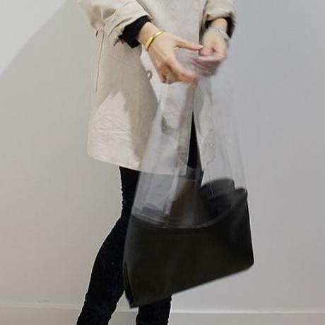 Clear Leather Tote  3col