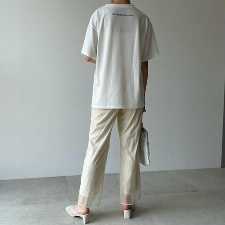 organdy straight pants 【予約】