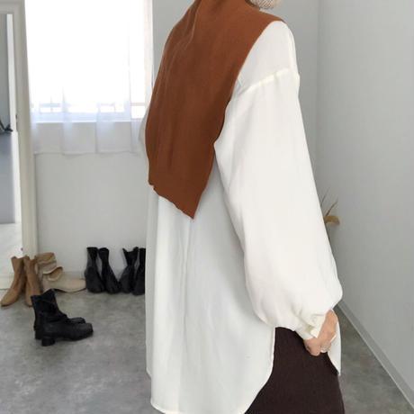 【MADE in KOREA】shoulder knit stole  4col