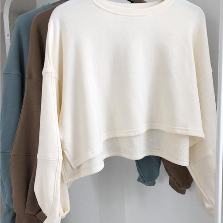 volume sleeve sweat tops   3col
