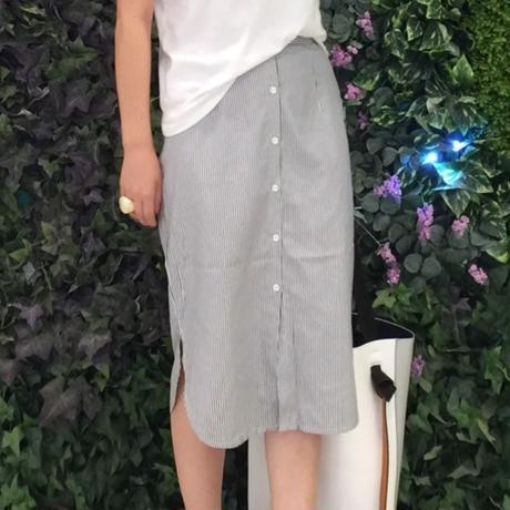 ストライプシャツスカート 2col