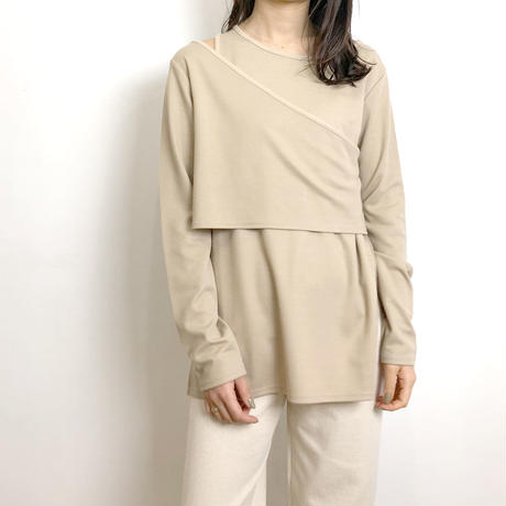 Rib Layered Tops     3col