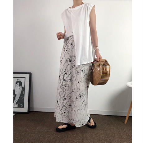 Flower straight skirt  2 col