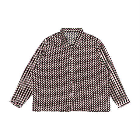 retro pattern loose shirt