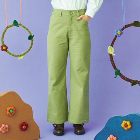 color cotton pants(pistàcchio green)