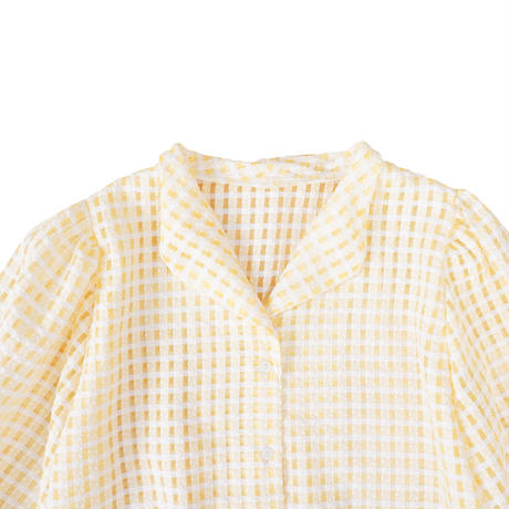 lemonade retro see through blouse