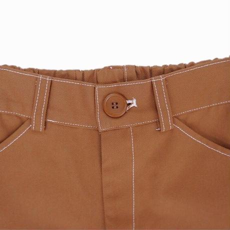 color cotton pants(cocoa brown)