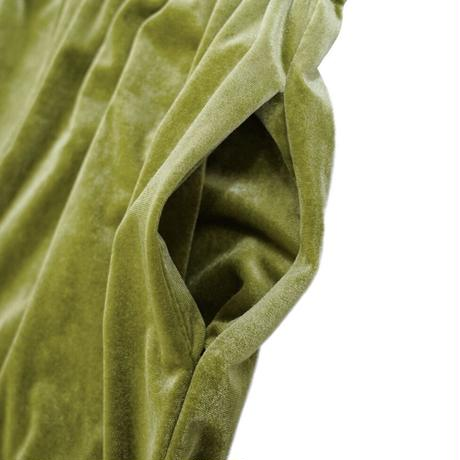 waving frill velours pants(green)