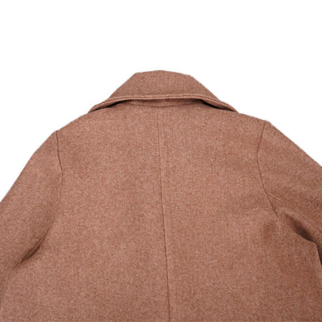 piping retro cocoon coat(brown)