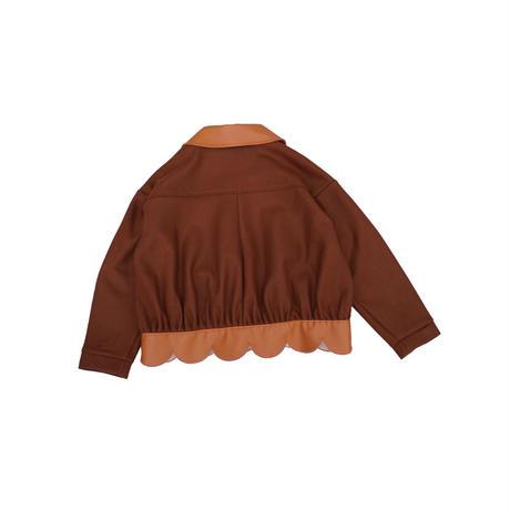 flower petal volume jacket (brown)