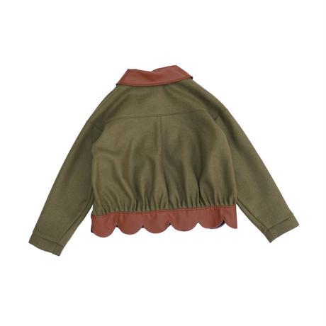 flower petal volume jacket(green)