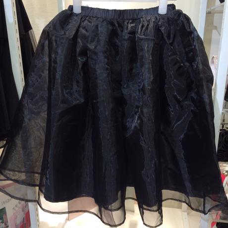 オーガンジーボリュームスカート ブラック