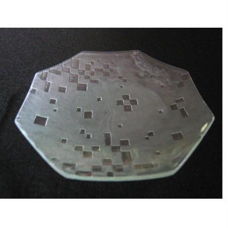 昭和型ガラス「こと」 皿 八角形 小(Φ120mm)