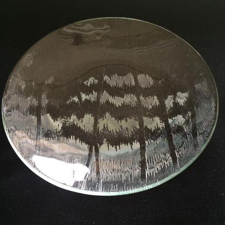 昭和型ガラス「こずえ」 皿 円形 小(Φ120mm)