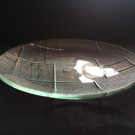 昭和型ガラス「かすり」 皿 円形 小(Φ120mm)