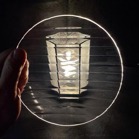 昭和型ガラス「モール」 皿 円形 中(Φ150mm)