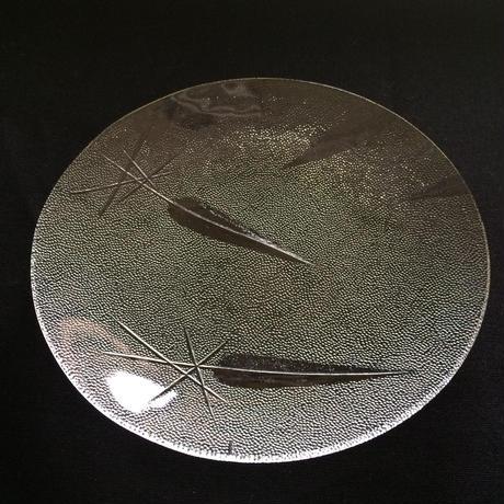 昭和型ガラス「ささ」 皿 円形 小(Φ120mm)