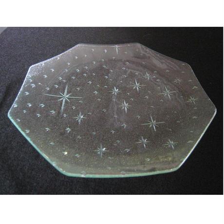 昭和型ガラス「銀河」 皿 八角形 大(Φ180mm)