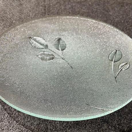昭和型ガラス「みどり」 皿 円形 大(Φ180mm)