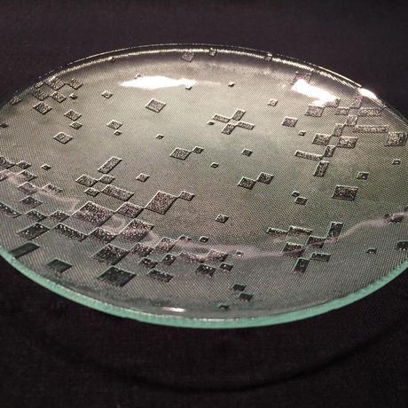 昭和型ガラス「古都」 皿 円形 中(Φ150mm)
