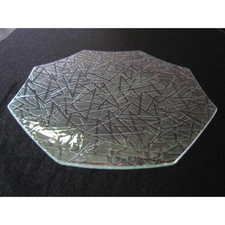 昭和型ガラス「まつば」 皿 八角形 大(Φ180mm)