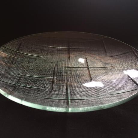 昭和型ガラス「かすり」 皿 円形 中(Φ150mm)