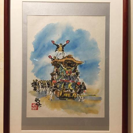【手描きアート 原画】だんじり6 45.3cm × 35cm